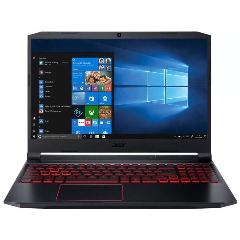 "Notebook Gamer Acer Nitro 5 Intel Core i5 10ªG, 16GB, SSD 512GB NVMe + HD 1TB, GTX 1650Ti 4GB, 15.6"" Full HD, Windows 10 - AN515-55"