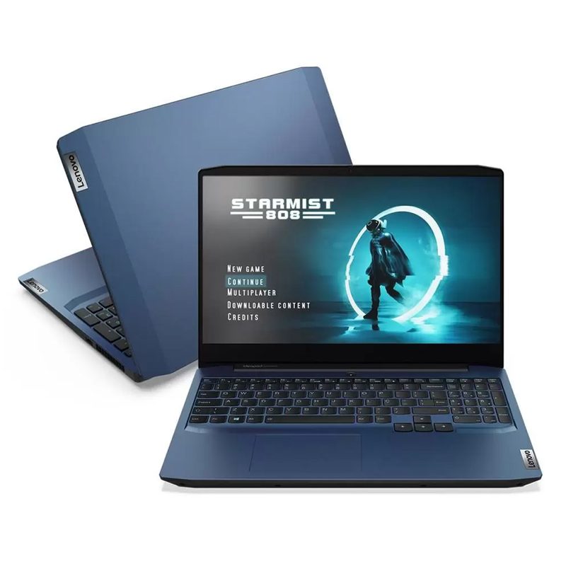 "Notebook Gamer Lenovo Ideapad Gaming 3i Intel Core i7-10750H, 8GB, SSD 512GB NVMe, GeForce GTX1650 4GB, 15.6"" WVA Full HD - Chameleon Blue"
