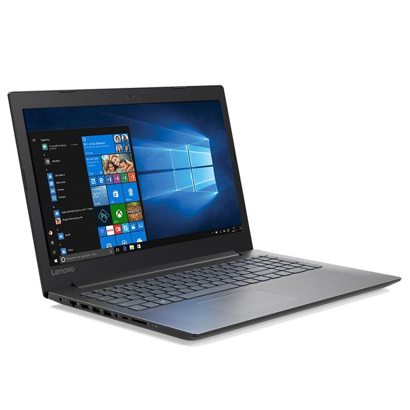 "Notebook Lenovo IdeaPad 330 Intel Core i3 de 8ªG, 4GB, HD 1TB, Tela 15.6"", W10, Preto"