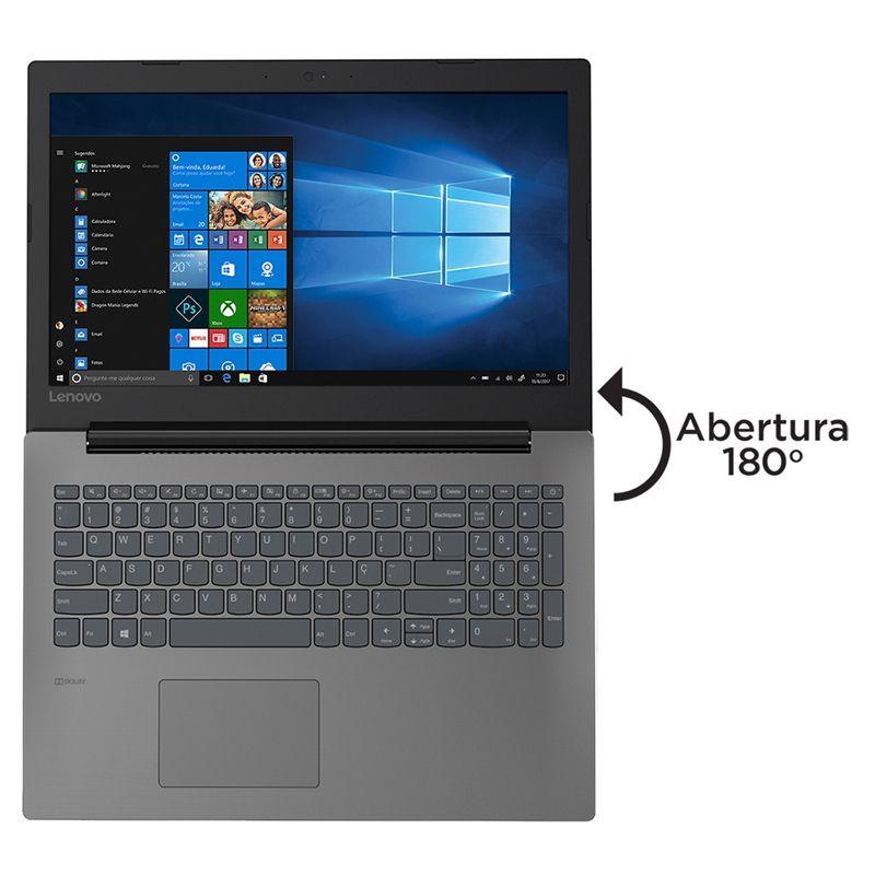 "Notebook Lenovo IdeaPad 330 Intel Core i3 de 8ªG, 4GB, SSD 240GB, Tela 15.6"", W10, Preto"