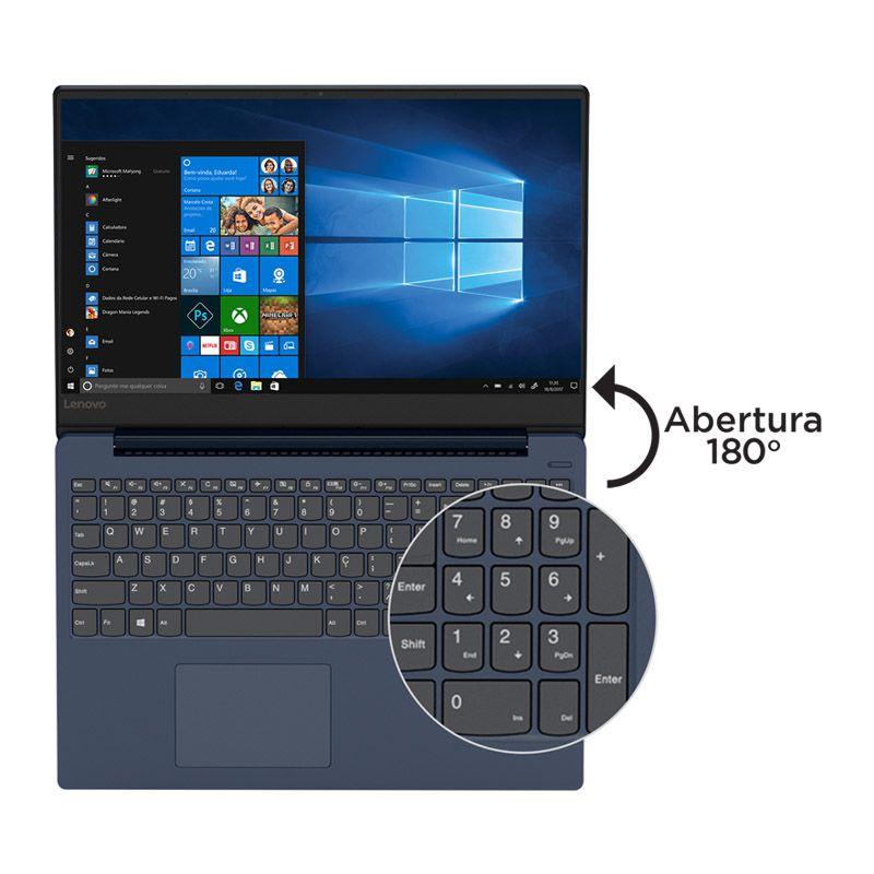 """Notebook Lenovo Ideapad 330S - Intel Core i5 de 8ª Geração, 4GB + 16GB Intel Optane, HD 1TB, Tela de 15.6"""", Win 10 - Azul"""