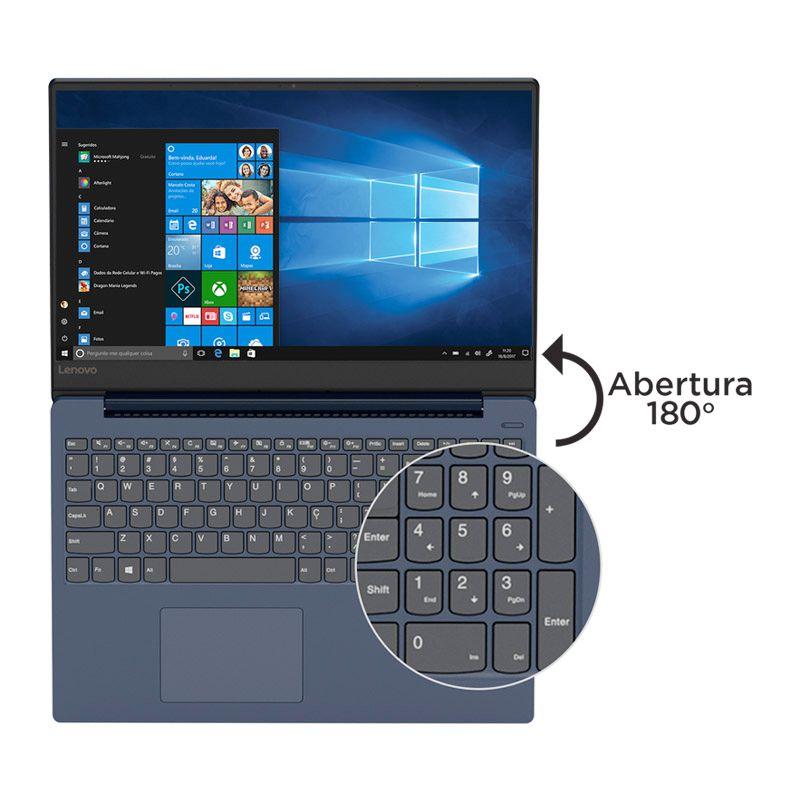"Notebook Lenovo IdeaPad 330S Intel Core i7 8ªG, 8GB, SSD NVMe 128GB + HD 1TB, Placa de Vídeo 2GB, 15.6"", W10"