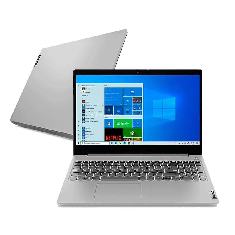 "Notebook Lenovo Ideapad 3I Intel Core i3 10ªG, 8GB, SSD 240GB, Tela 15.6"" Windows 10"