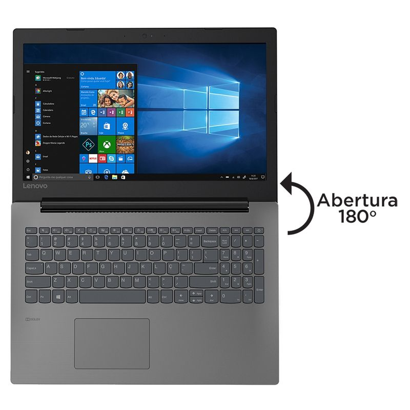 "Notebook Lenovo IdeaPad B330 Intel Core i3 2.3GHz, 4GB, SSD 240GB, Tela 15,6"" Windows 10"