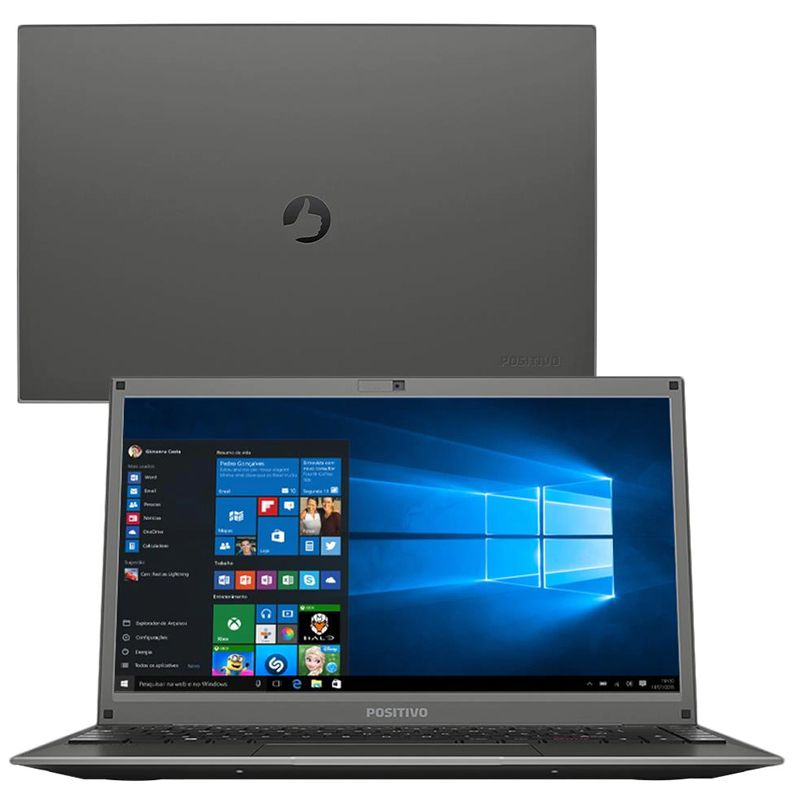 "Notebook Positivo Master  - Intel Dual Core, 4GB, HD 500GB, Tela 14"", Windows 10"