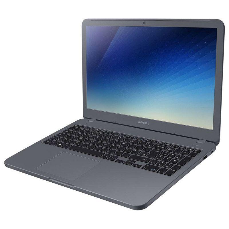 "Notebook Samsung Essentials E20 - Intel Dual Core, 4GB, SSD 240GB, Tela HD 15.6"" - Titanium, NP350XAA-KDA"