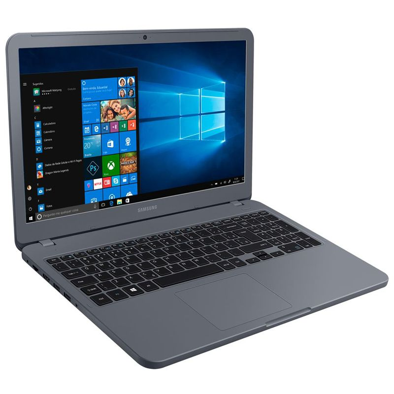 "Notebook Samsung Essentials E30 - Intel Core i3, 4GB, 1TB, Tela 15.6"" Full HD - Titanium, NP350XAA-KF3"