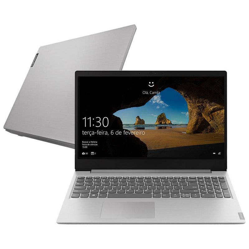 "Notebook Ultrafino Lenovo Ideapad S145 Intel Core i3 8ªG, 4GB, SSD 240GB, Tela 15.6"", Windows 10"
