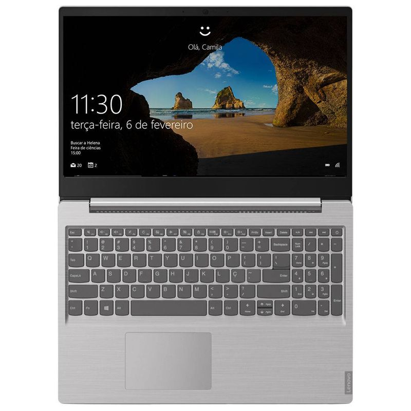 "Notebook Ultrafino Lenovo Ideapad S Intel Core i5 8ªG, 8GB, SSD 240GB,  Tela 15.6"", Windows 10"