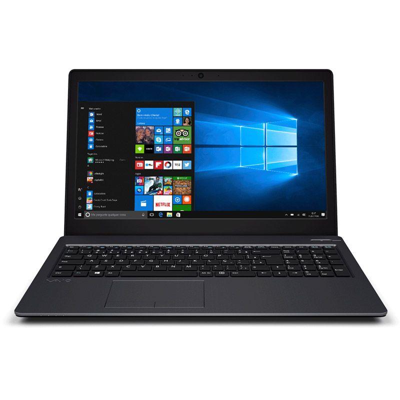 Notebook Vaio FIT 15S - Intel Core i7 8ª geração, Memória 8GB, SSD 120GB, Tela 15.6