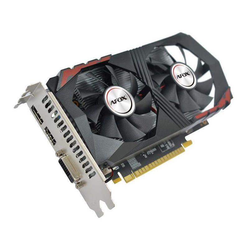 Placa de Vídeo GeForce GTX 1050Ti 4GB DDR5, 128 Bits, HMI/DVI/DP - Afox AF1050TI