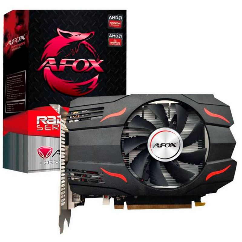 PLACA DE VIDEO AFOX RADEON RX550 4GB DDR5 128 BITS - HDMI - DVI - VGA - ATX