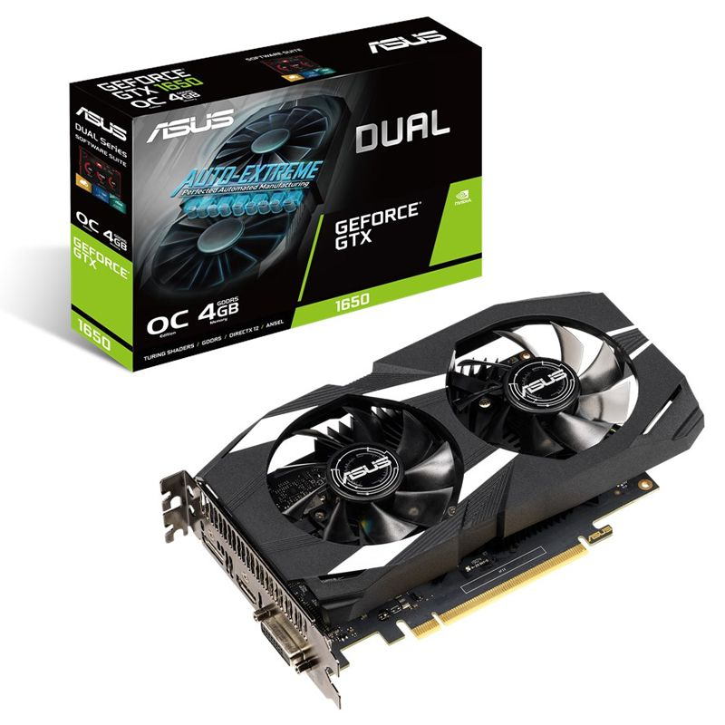 Placa de Vídeo Asus GeForce GTX 1650 Dual 4GB - DDR5 128 Bits