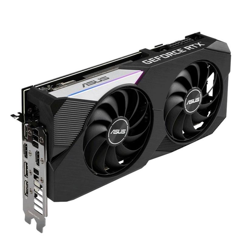 Placa de Video GeForce RTX 3070 OC 8GB Asus - GDDR6, Dual, 256-bit