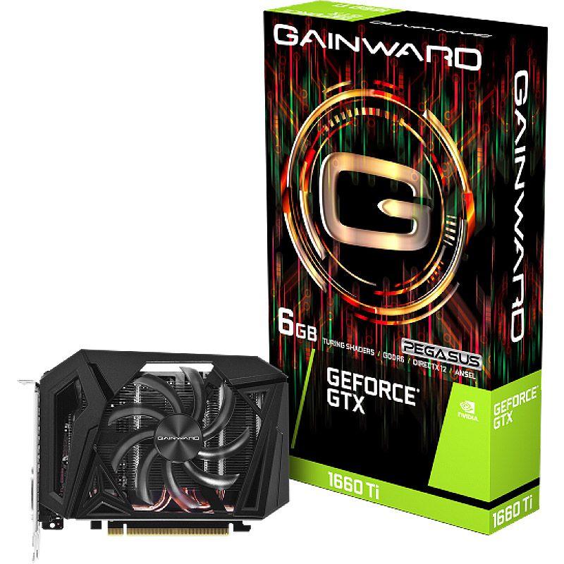 Placa de Vídeo Gainward GeForce GTX 1660Ti Pegasus - 6GB, GDDR6, PCI-E