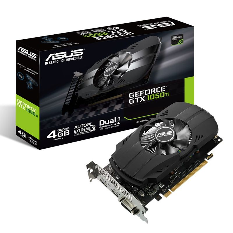 Placa de Vídeo GeForce GTX 1050 Ti 4GB Asus Phoenix - DDR5, 128 bits