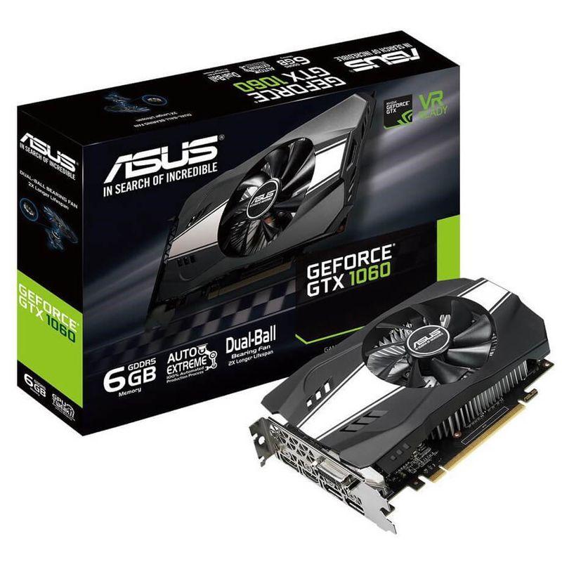 Placa de Vídeo GeForce GTX 1060 6GB Asus Phoenix - DDR5, 192 bits