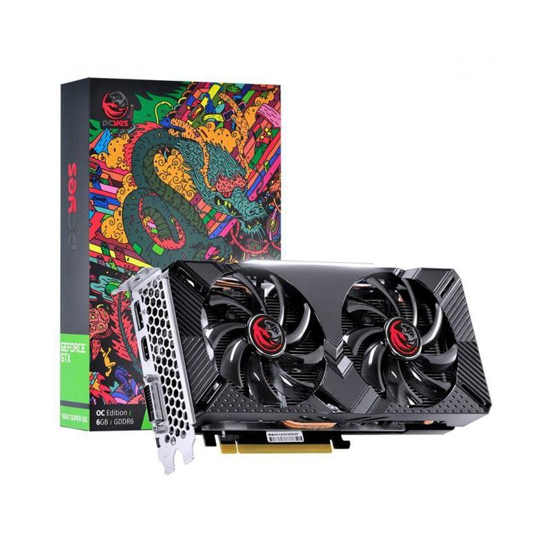 Placa de vídeo GeForce GTX 1660 Super OC 6GB PCYes - GDDR6, 192 Bits, Dual Fan