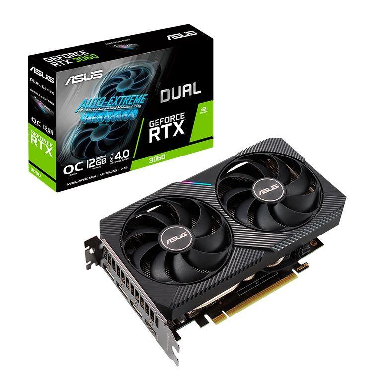 Placa de Vídeo GeForce RTX 3060 12GB Asus - GDDR6, 192 bit