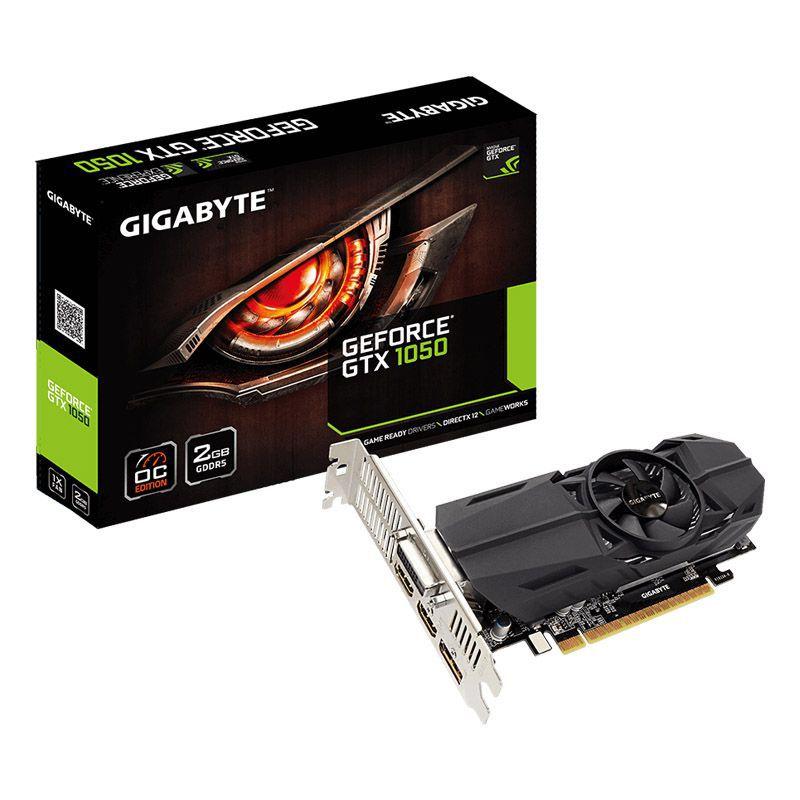 Placa de vídeo Gigabyte GeForce GTX 1050 OC - 2GB, GDDR5, Low Profile - GV-N1050OC-2GL