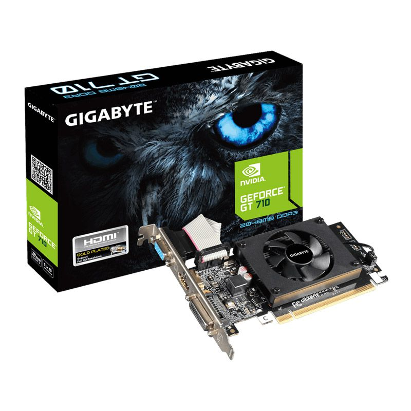 Placa de vídeo Gigabyte GT 710 -2GB, Low Profile, DDR3, PCI-E - GV-N710D3-2GL