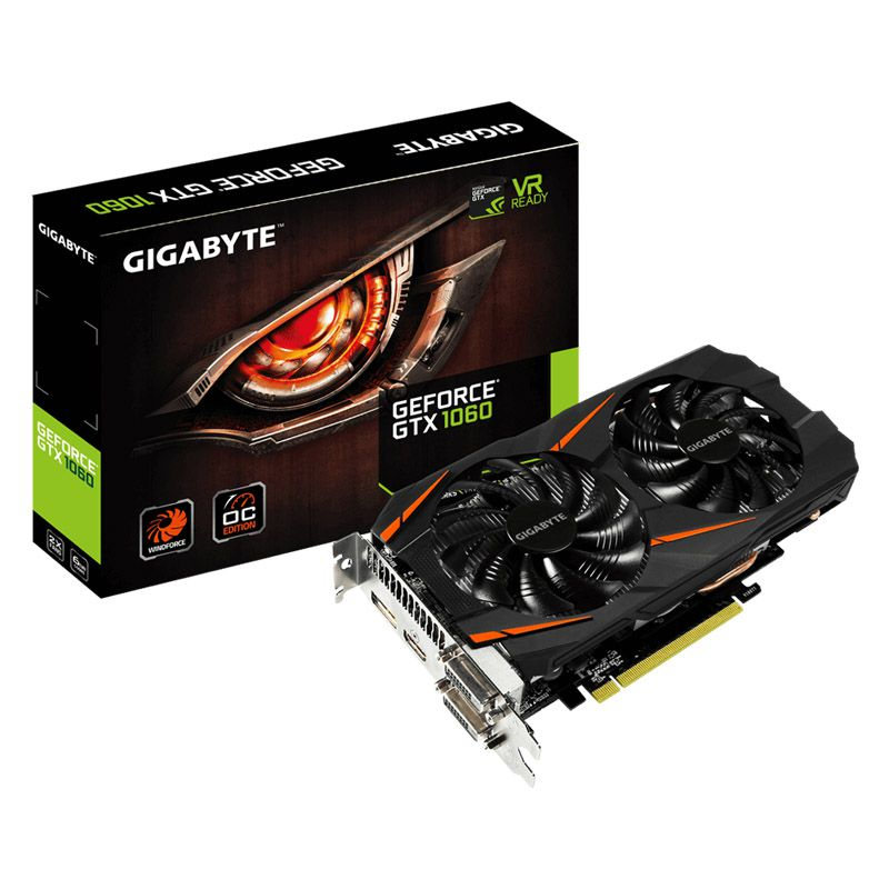 Placa de vídeo Gigabyte GTX1060 WINDFORCE 2X - 6GB, DDR5 - GV-N1060WF2OC-6GD
