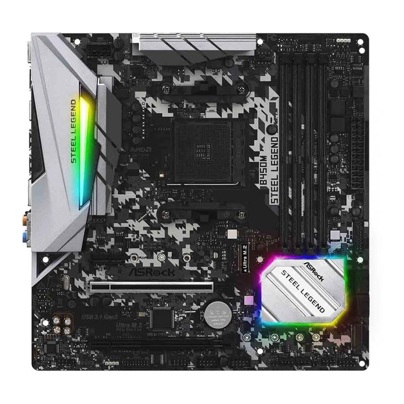 Placa Mãe ASRock B450M Steel Legend -  AMD AM4, mATX, DDR4 - 90-MXB9Y0-A0BAYZ