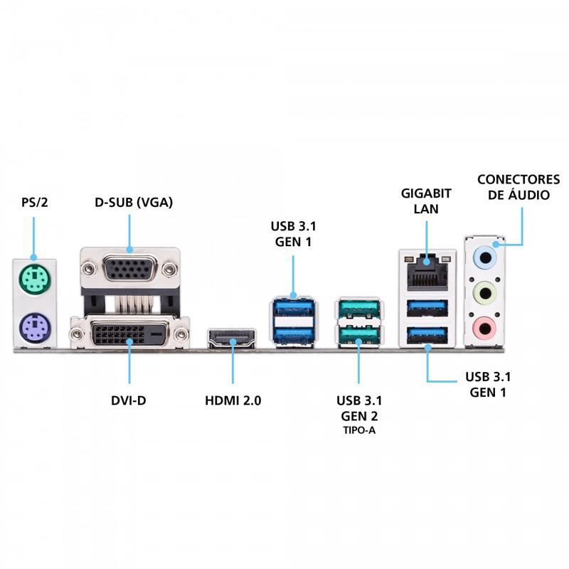 Placa Mãe Asus Prime B450M Gaming/BR DDR4, socket AM4, chipset B450, mATX