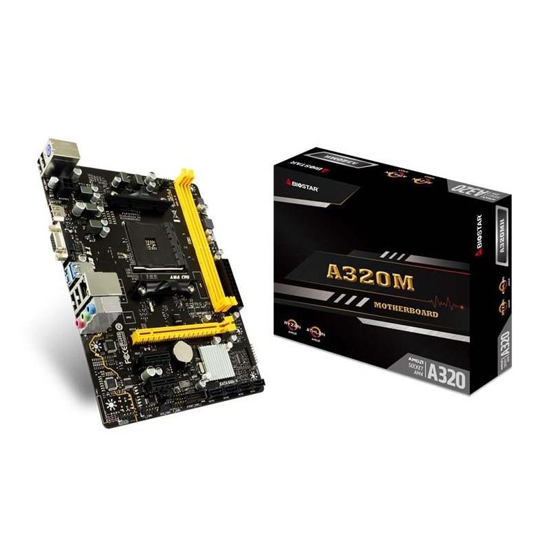 Placa Mãe Biostar A320MH DDR4, socket AM4, chipset A320, mATX