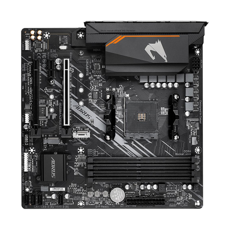 Placa Mãe Gigabyte B550M Aorus Elite - AMD AM4, Micro ATX, DDR4