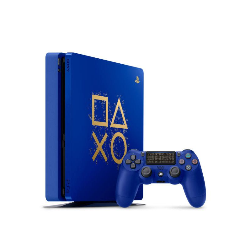 Playstation 4 Slim Days of Play Edition - HD 1TB, Controle Dualshock 4 - Azul