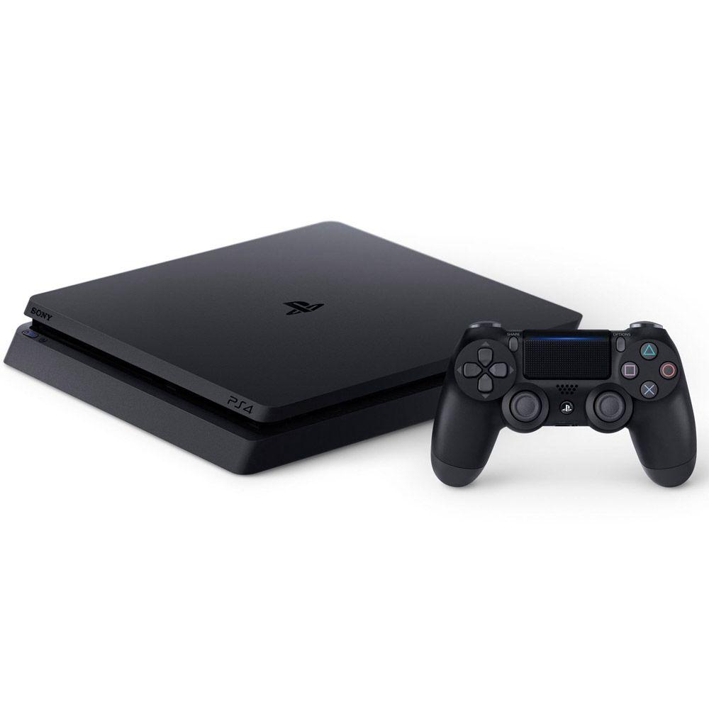 Playstation 4 Slim Edição Especial - HD 1TB, Controle + God Of War, Gran Turismo Sport e Uncharted 4