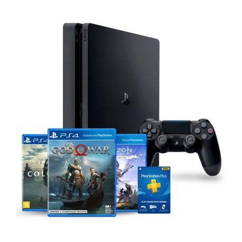Playstation 4 Slim Edição Especial - HD 1TB, Controle + God Of War, Horizon Zero Dawn e Shadow of the Colossus