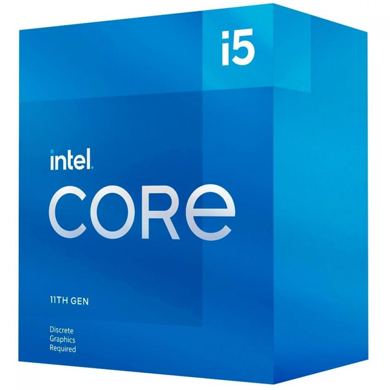 Processador Intel Core i5-11400F 11ª Ger 2.6GHz (4.4GHz Turbo), 6-Core 12-Thread, Cache 12MB, LGA 1200, sem video - BX8070811400F