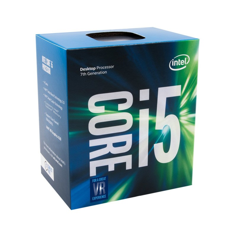 Processador Intel Core i5 7ª Geração - 7400 Kaby Lake - Velocidade 3.5 GHz (Max Turbo), Cache de 6MB, LGA 1151, Intel HD Graphics 630 -  BX80677I57400