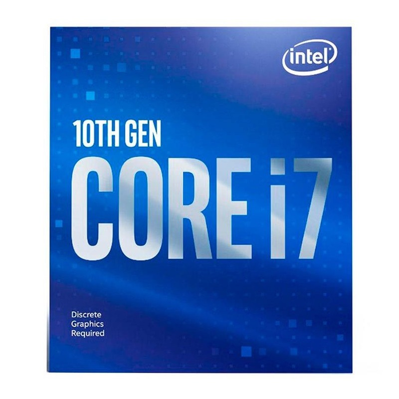 Processador Intel Core i7-10700F 2.90GHz (4.80GHz Turbo), 8-Core 16-Thread, Cache 16MB, LGA 1200, sem vídeo - BX8070110700F