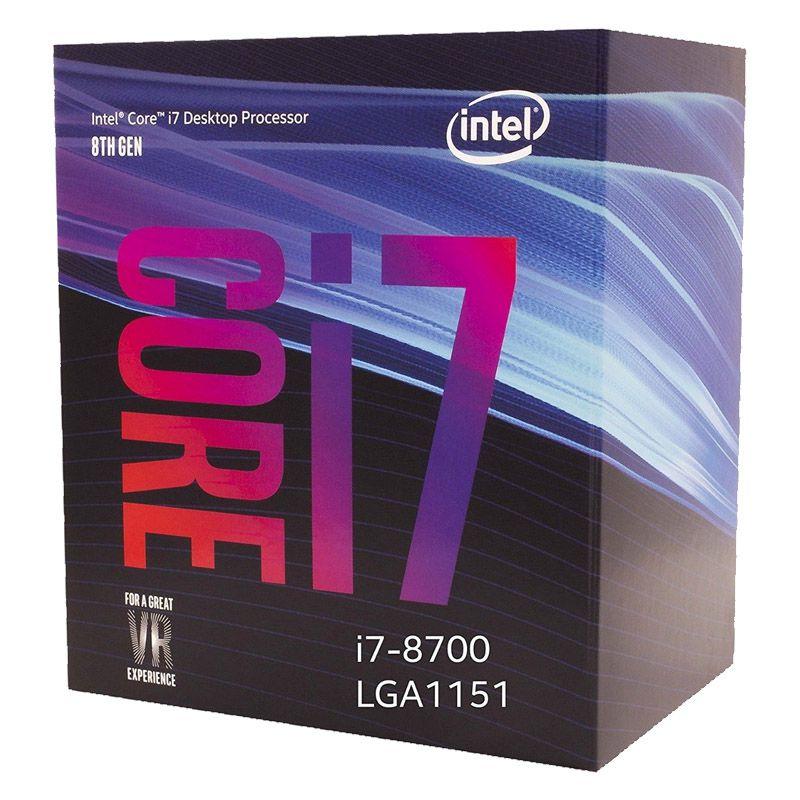 Processador Intel Core i7-8700 - Coffe Lake, Cache 12MB, 3.GHz, LGA 1151