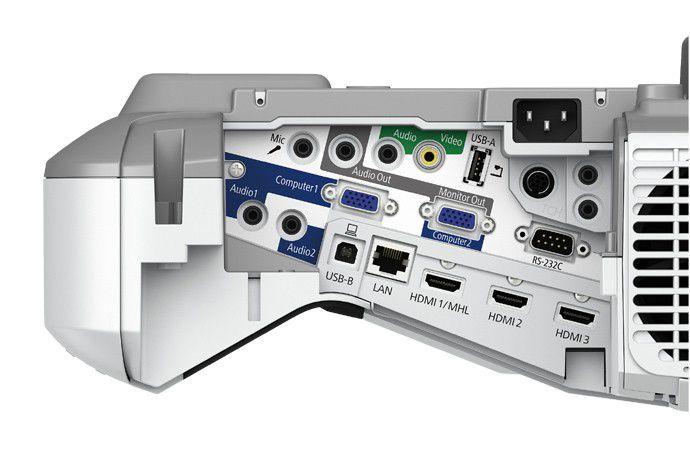 Projetor Epson BrightLink 695Wi+ - 3.500 Lumens, 14.000:1 Contraste, WXGA, HDMI, Caneta Interativa - V11H740021