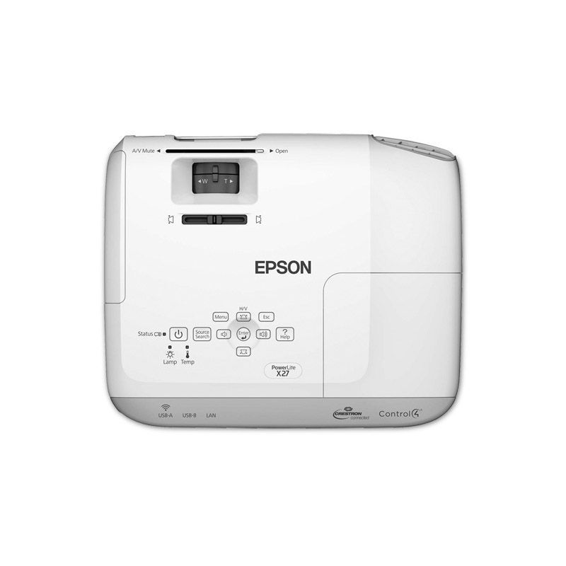 Projetor Epson PowerLite EB-X27 - 2700 Lumens, HDMI, XGA, 10.0001:1 Contraste