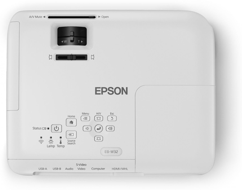 Projetor Epson PowerLite W32+ - 3.200 Lumens, 15.000:1 Contraste, WXGA, HDMI, Wireless