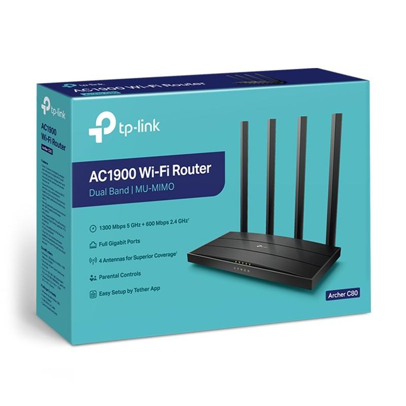 Roteador TP-Link Archer C80 Wireless MU-MIMO AC1900