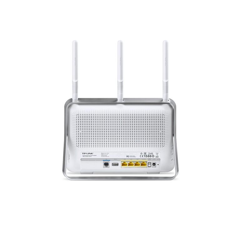 Roteador Wireless TP Link ARCHER VR200 AC750, VDSL/ADSL, Dual Band Gigabit, 3 Portas Ethernet, 1 Porta DLS, 2 USB 2.0, 3 Antenas - TP Link VR200