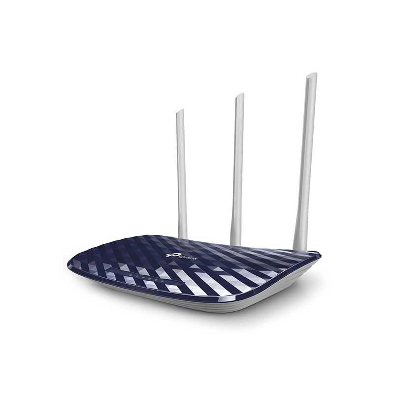 Roteador Wireless TP Link Gigabit ARCHER C20 AC750 Dual Band, 4 Portas LAN, 1 Porta WAN, 3 Antenas - TP Link AC750