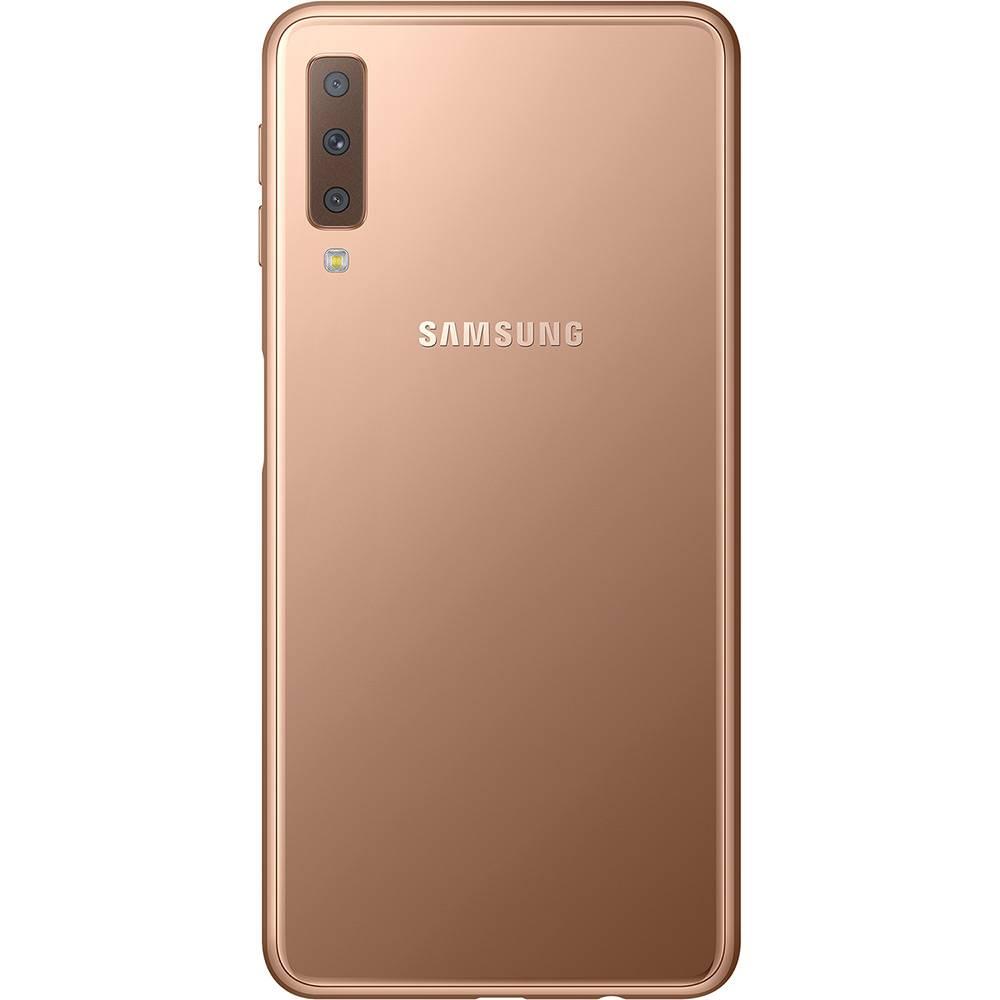 """Samsung Galaxy A7 Novo - 64GB, Câmera Traseira Tripla,  Super AMOLED de 6"""" -Preto"""