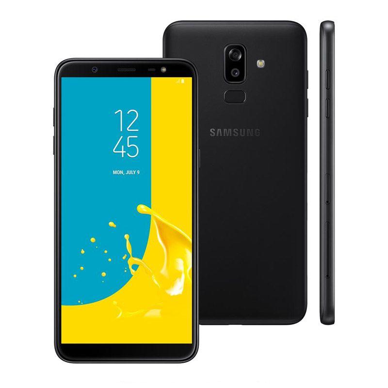 """Samsung Galaxy J8 - 64GB, Display Infinito de 6.0"""", Câmera Dupla, Leitor Biométrico, Dual Sim - Preto"""