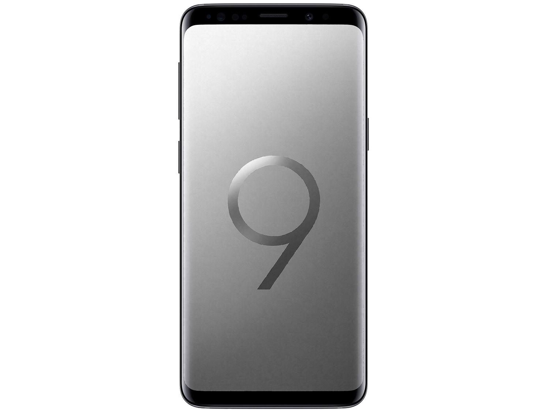 "Samsung Galaxy S9 - 128GB, 12MP + 8MP, Tela 5.8"" - Cinza"