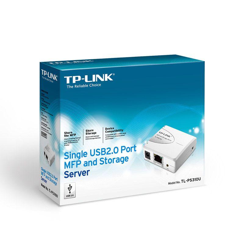 Servidor de Armazenamento e Impressão Multifuncional TP-Link TL-PS310U - Porta Única USB 2.0