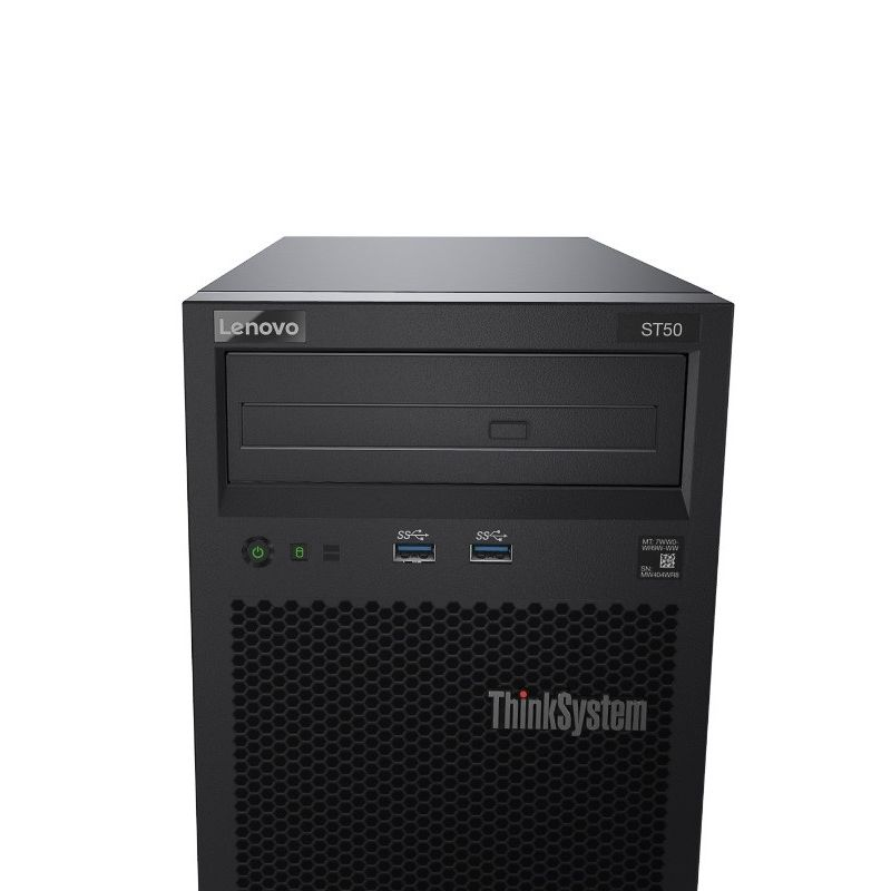 Servidor Lenovo ThinkSystem ST50 Intel Xeon E-2104G 3.2GHz, 8GB, HD 2TB (2x 1TB)