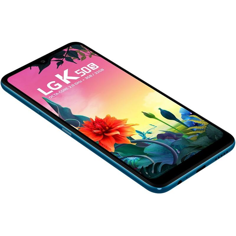 """Smartphone LG K50S 32GB Azul Moroccan Blue, Câmera Tripla com Inteligência Artificial, Selfie 13MP, Octa-core, Tela 6.5"""""""