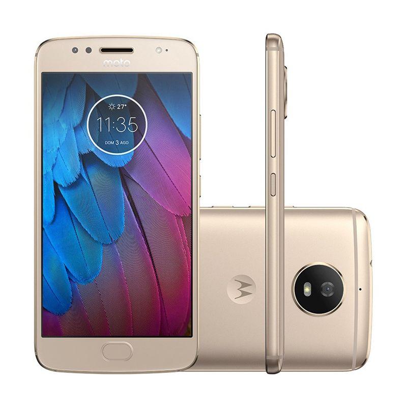Smartphone Moto G5 de 32GB, Dual chip, Câmera Full HD, Leitor biométrico - Motorola XT1671, Dourado